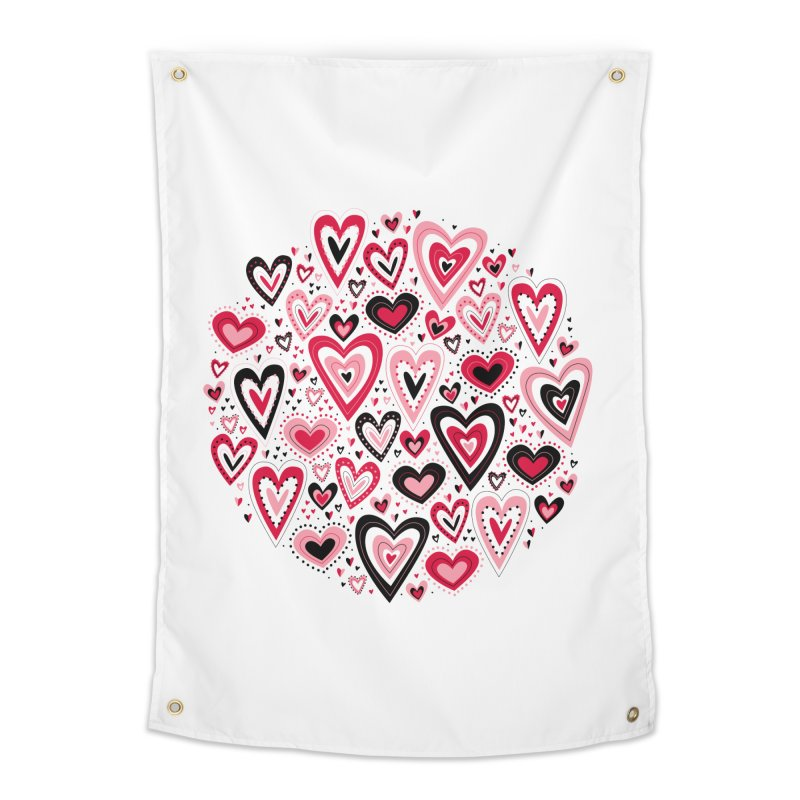Lovely Hearts Home Tapestry by Robyriker Designs - Elishka Jepson