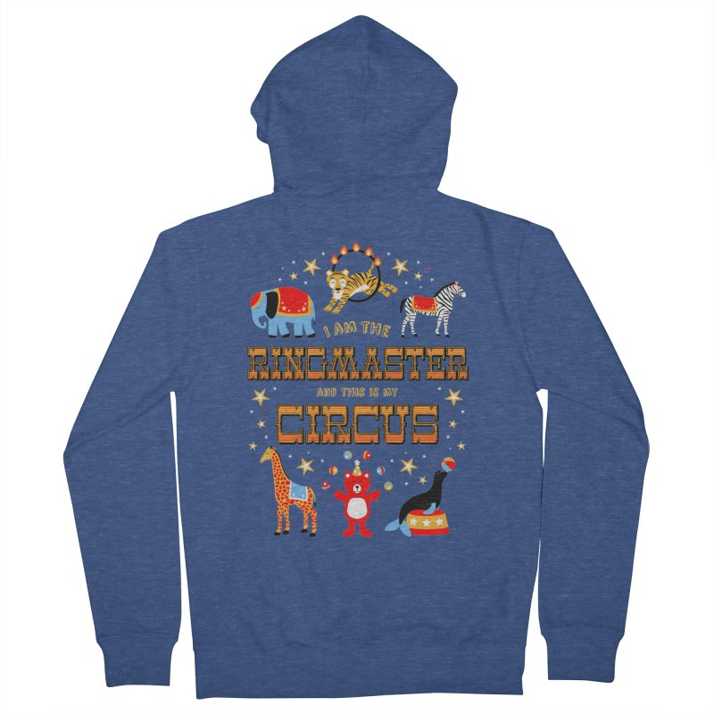 Ringmaster of the Circus Men's Zip-Up Hoody by Robyriker Designs - Elishka Jepson