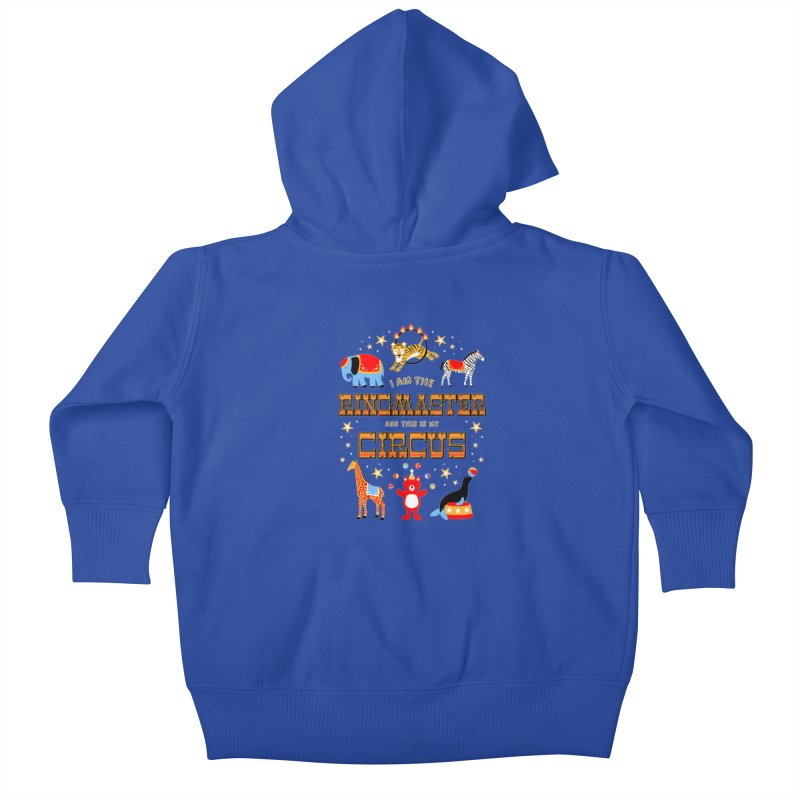 Ringmaster of the Circus Kids Baby Zip-Up Hoody by Robyriker Designs - Elishka Jepson