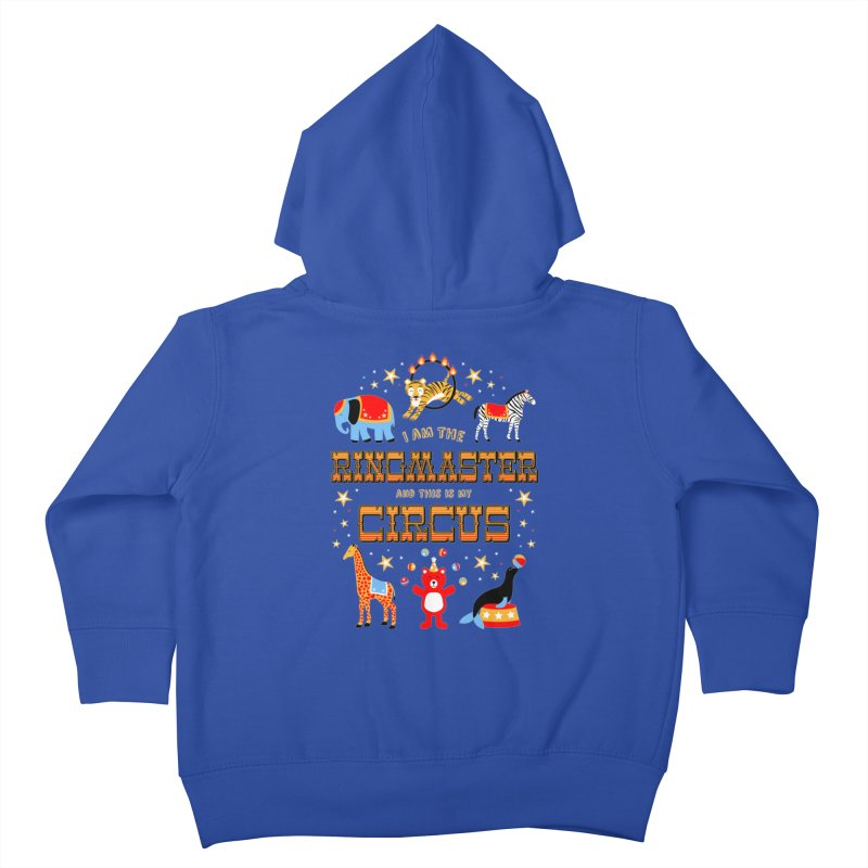Ringmaster of the Circus Kids Toddler Zip-Up Hoody by Robyriker Designs - Elishka Jepson