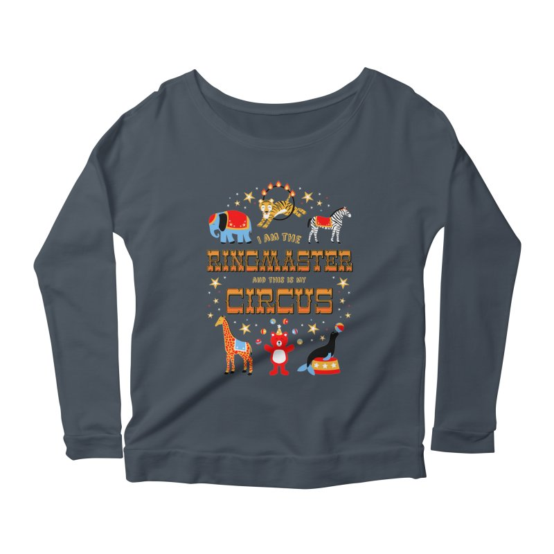 Ringmaster of the Circus Women's Longsleeve Scoopneck  by Robyriker Designs - Elishka Jepson