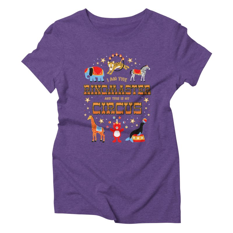 Ringmaster of the Circus Women's Triblend T-Shirt by Robyriker Designs - Elishka Jepson