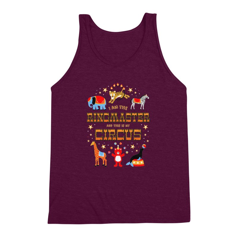Ringmaster of the Circus Men's Triblend Tank by Robyriker Designs - Elishka Jepson