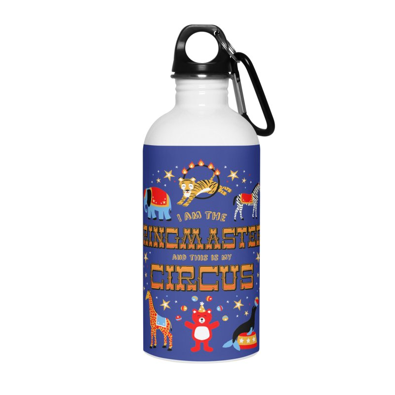 Ringmaster of the Circus Accessories Water Bottle by Robyriker Designs - Elishka Jepson