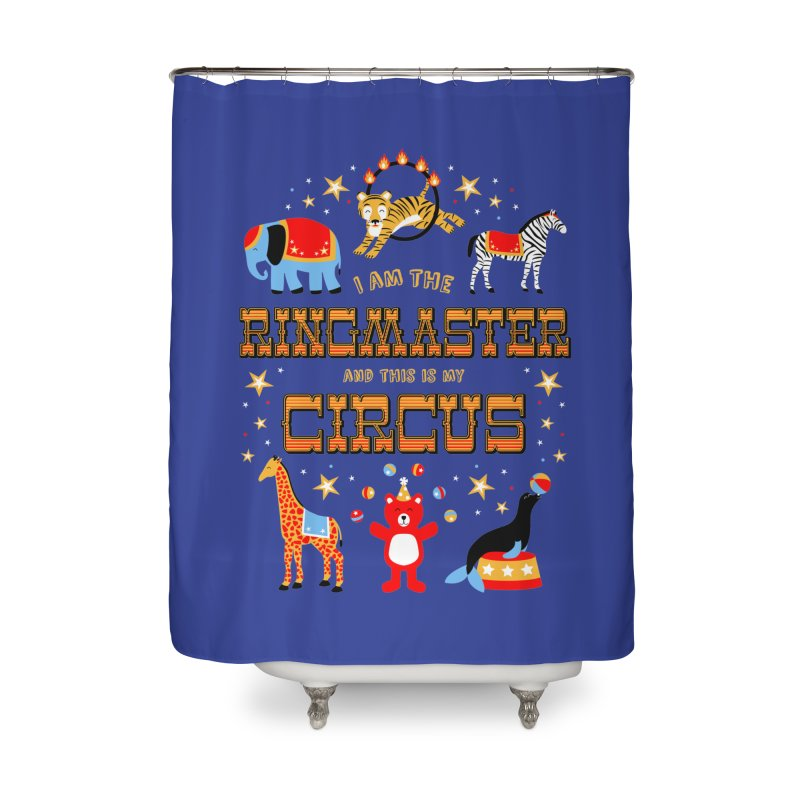 Ringmaster of the Circus Home Shower Curtain by Robyriker Designs - Elishka Jepson