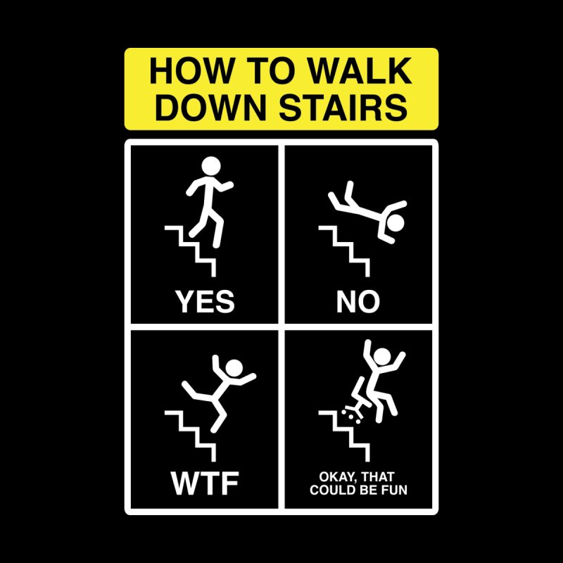 How to Walk Down Stairs by Robyriker Designs - Elishka Jepson