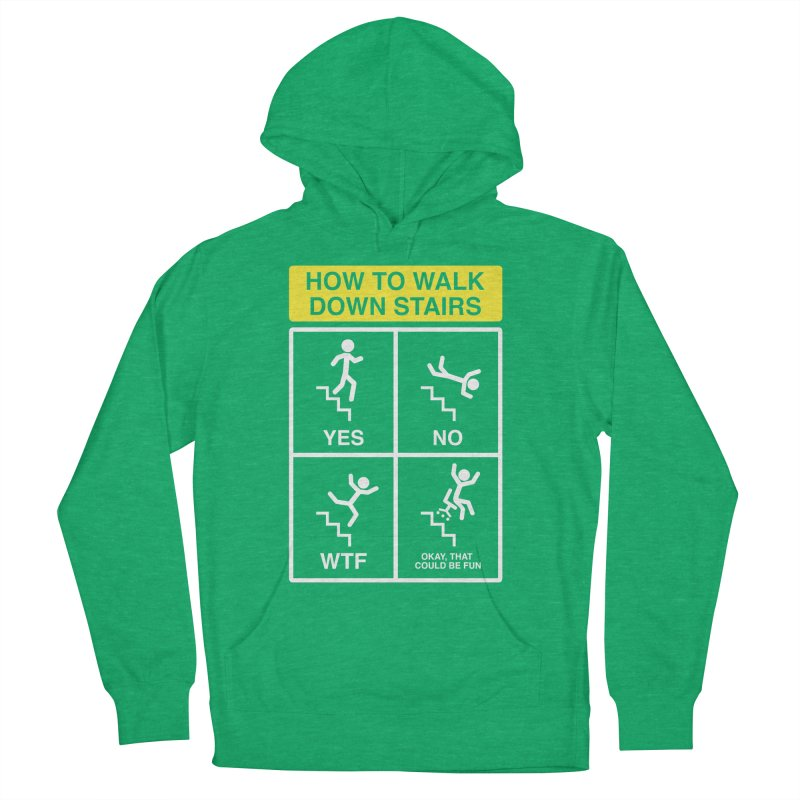 How to Walk Down Stairs Women's Pullover Hoody by Robyriker Designs - Elishka Jepson