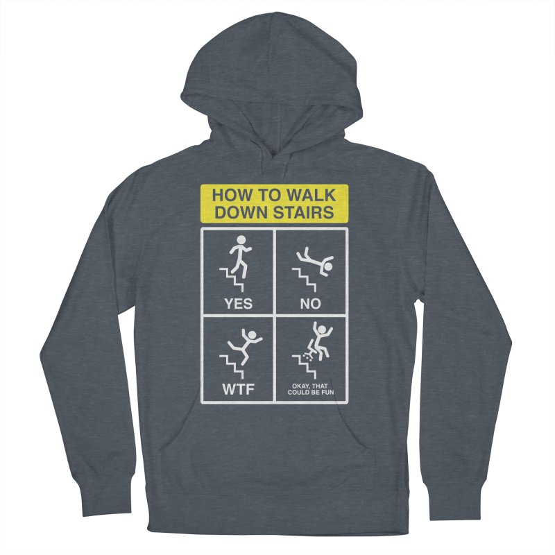 How to Walk Down Stairs Men's Pullover Hoody by Robyriker Designs - Elishka Jepson