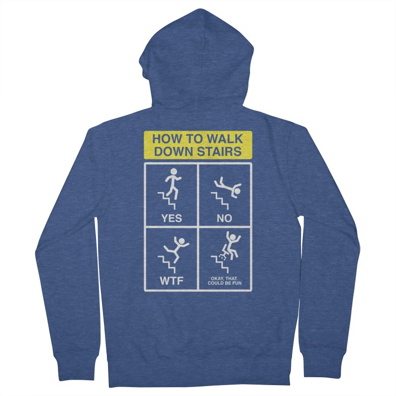 How to Walk Down Stairs Women's Zip-Up Hoody by Robyriker Designs - Elishka Jepson