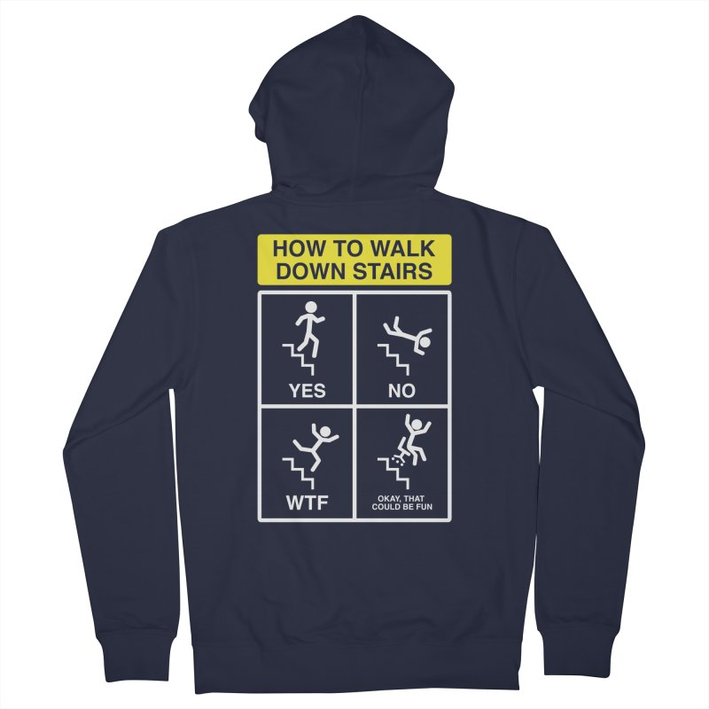 How to Walk Down Stairs Men's Zip-Up Hoody by Robyriker Designs - Elishka Jepson