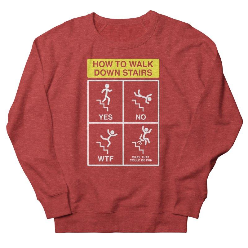 How to Walk Down Stairs Women's Sweatshirt by Robyriker Designs - Elishka Jepson