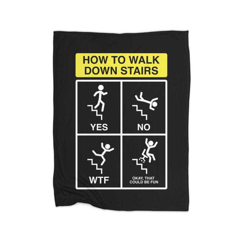 How to Walk Down Stairs Home Blanket by Robyriker Designs - Elishka Jepson