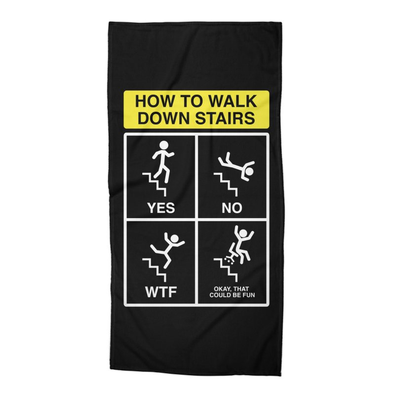 How to Walk Down Stairs Accessories Beach Towel by Robyriker Designs - Elishka Jepson