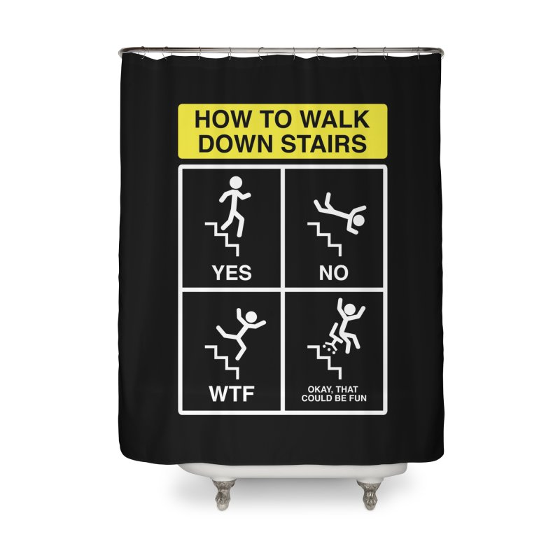 How to Walk Down Stairs Home Shower Curtain by Robyriker Designs - Elishka Jepson