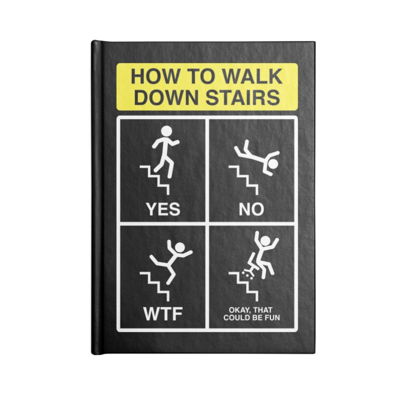 How to Walk Down Stairs Accessories Notebook by Robyriker Designs - Elishka Jepson