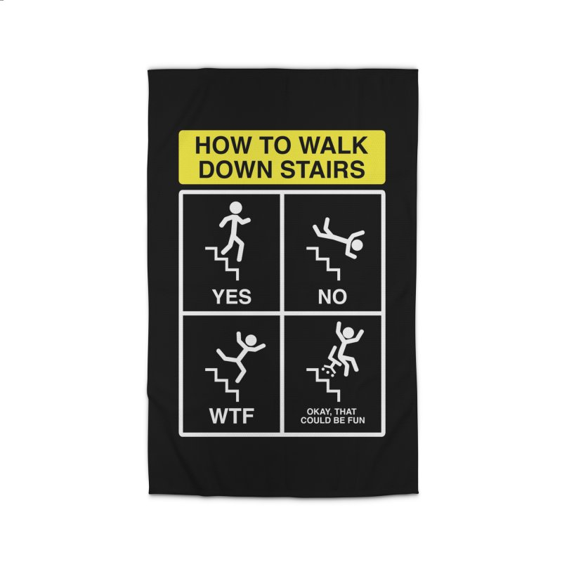 How to Walk Down Stairs Home Rug by Robyriker Designs - Elishka Jepson