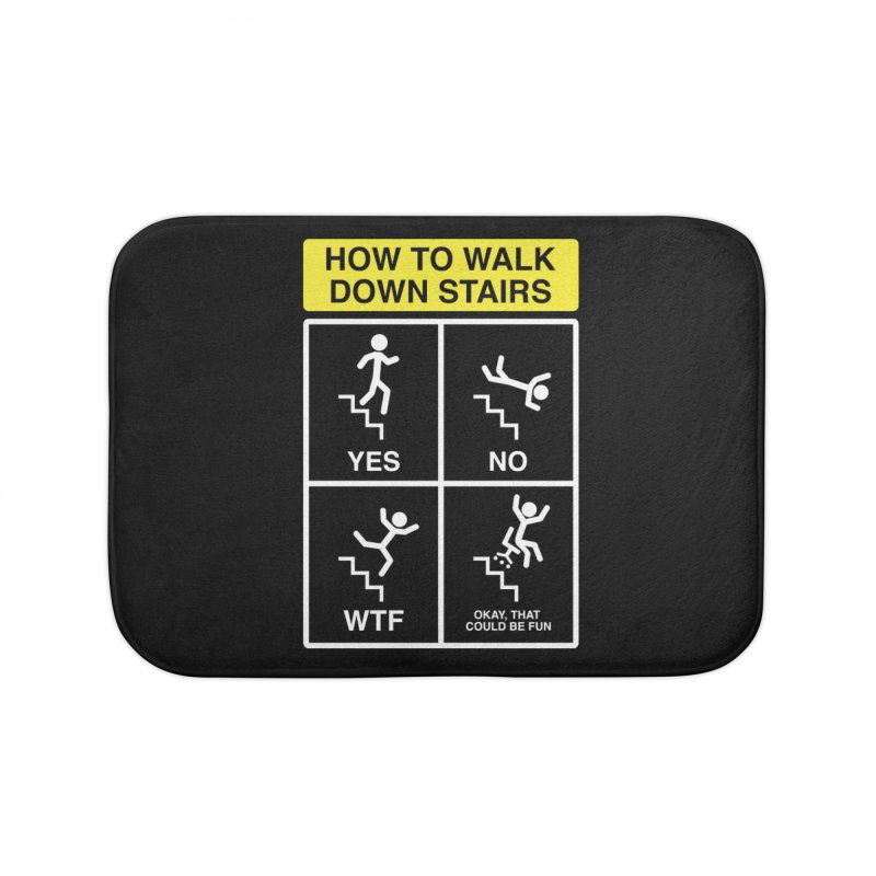 How to Walk Down Stairs Home Bath Mat by Robyriker Designs - Elishka Jepson
