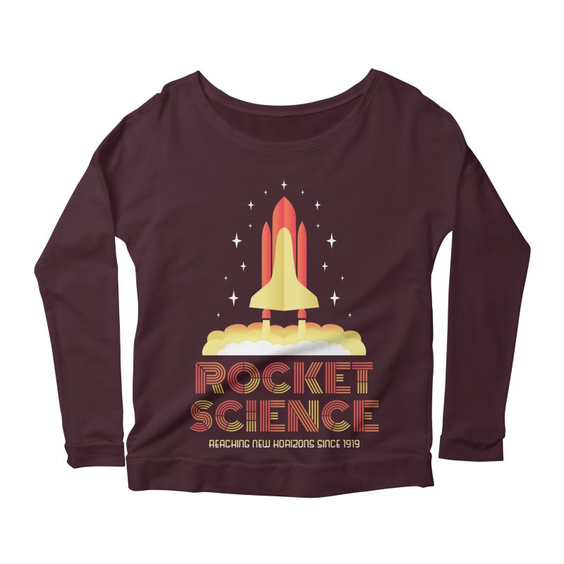 Rocket Science Women's Longsleeve Scoopneck  by Robyriker Designs - Elishka Jepson