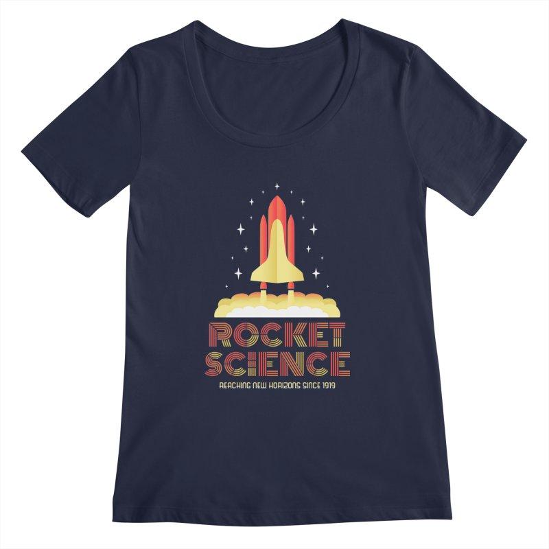 Rocket Science Women's Scoopneck by Robyriker Designs - Elishka Jepson
