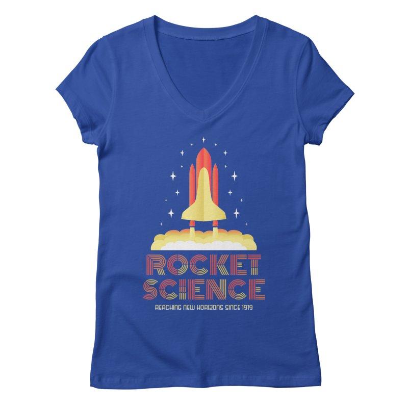 Rocket Science Women's V-Neck by Robyriker Designs - Elishka Jepson