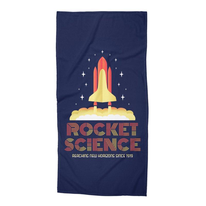 Rocket Science Accessories Beach Towel by Robyriker Designs - Elishka Jepson