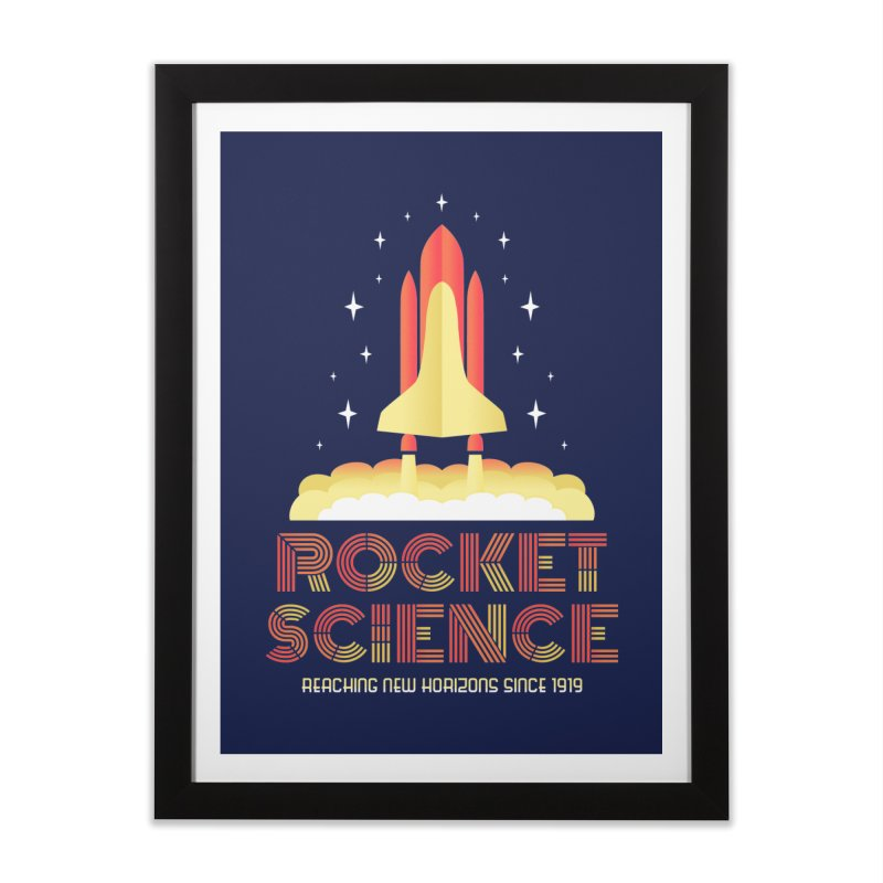 Rocket Science Home Framed Fine Art Print by Robyriker Designs - Elishka Jepson