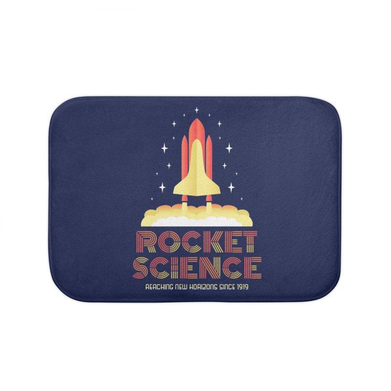 Rocket Science Home Bath Mat by Robyriker Designs - Elishka Jepson