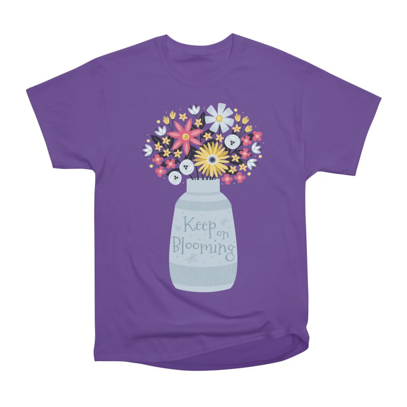 Keep on Blooming Women's Classic Unisex T-Shirt by Robyriker Designs - Elishka Jepson