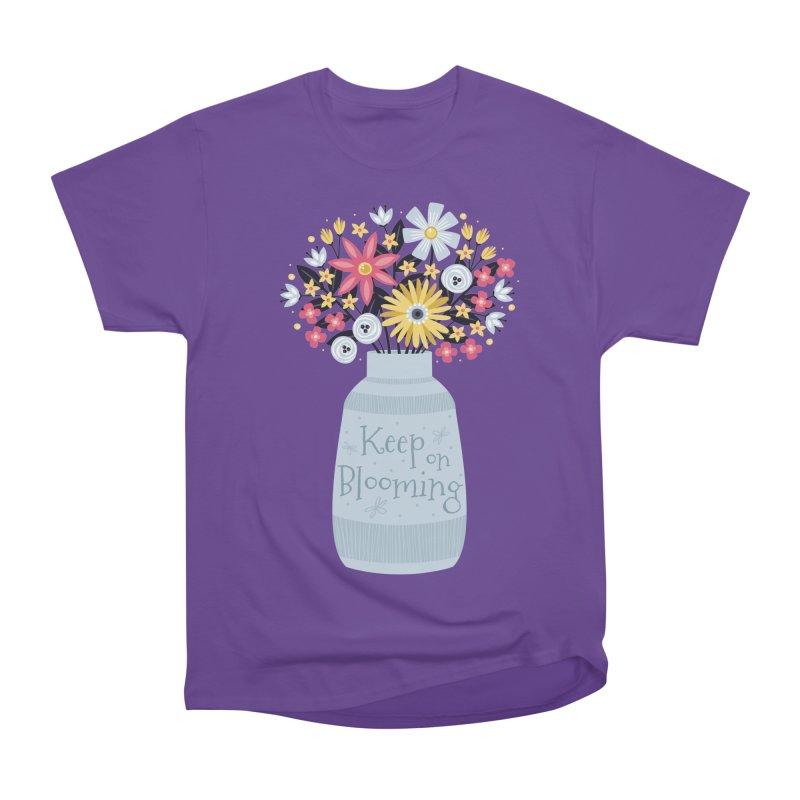 Keep on Blooming Men's Heavyweight T-Shirt by Robyriker Designs - Elishka Jepson