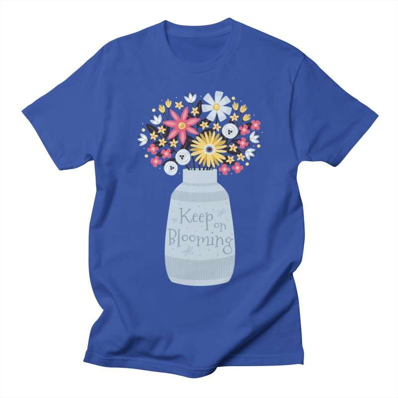 Keep on Blooming Men's T-Shirt by Robyriker Designs - Elishka Jepson