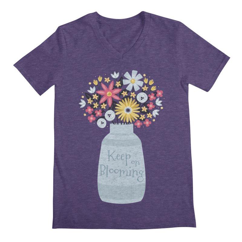 Keep on Blooming Men's V-Neck by Robyriker Designs - Elishka Jepson