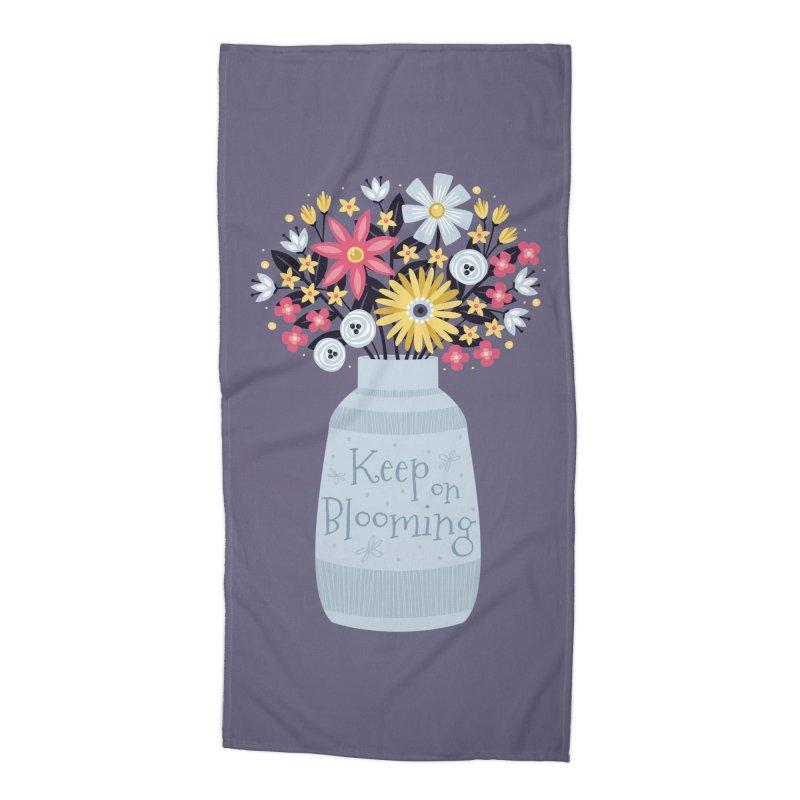 Keep on Blooming Accessories Beach Towel by Robyriker Designs - Elishka Jepson