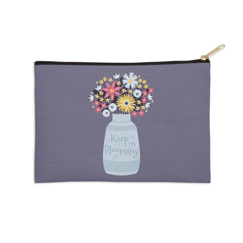 Keep on Blooming Accessories Zip Pouch by Robyriker Designs - Elishka Jepson