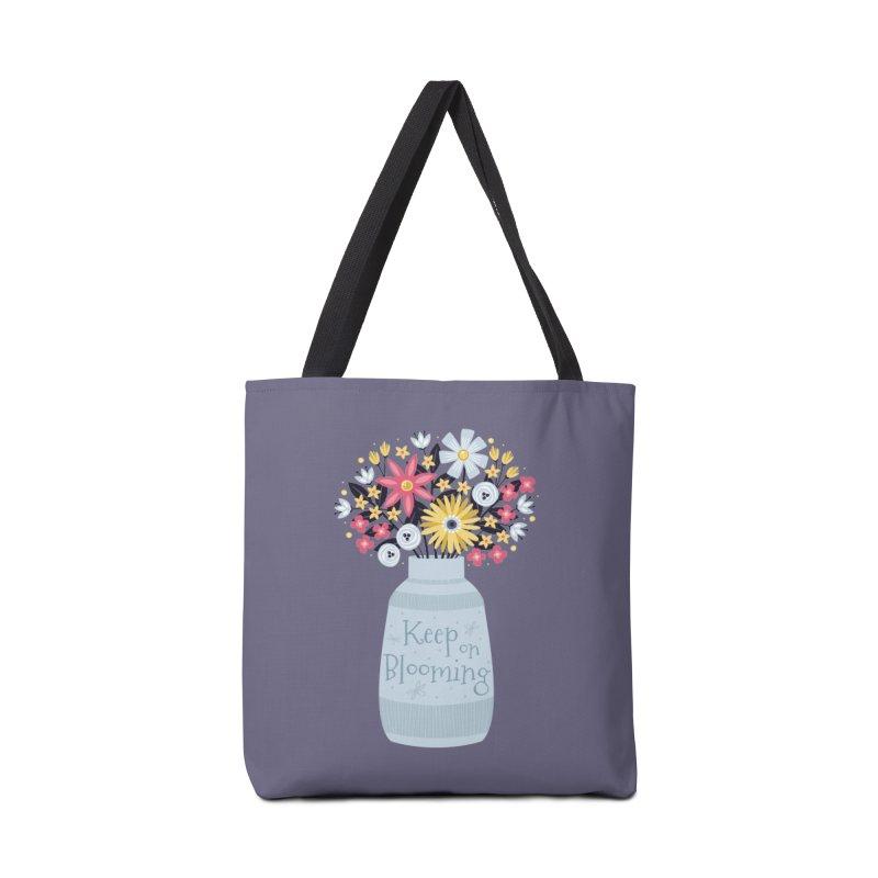 Keep on Blooming Accessories Bag by Robyriker Designs - Elishka Jepson