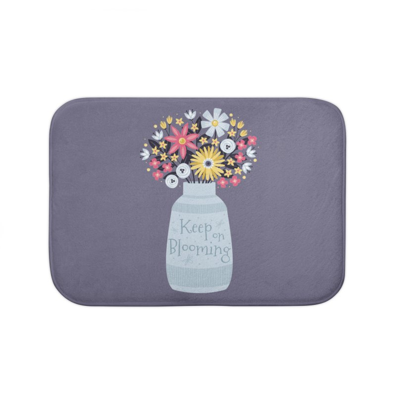 Keep on Blooming Home Bath Mat by Robyriker Designs - Elishka Jepson