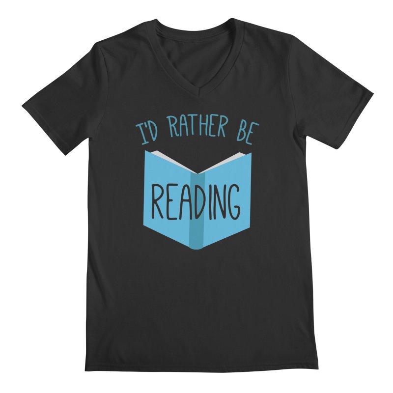 I'd Rather Be Reading Men's V-Neck by Robyriker Designs - Elishka Jepson