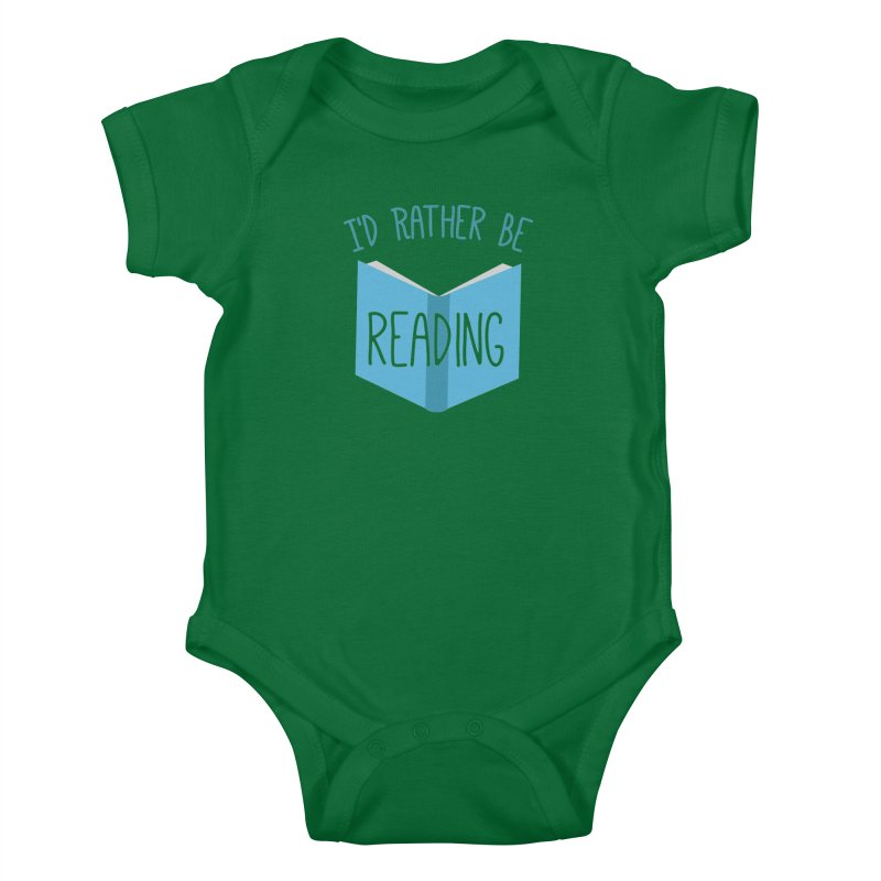 I'd Rather Be Reading Kids Baby Bodysuit by Robyriker Designs - Elishka Jepson