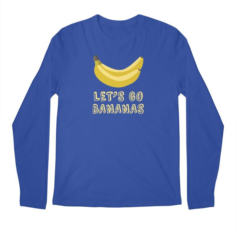 Let's Go Bananas Men's Longsleeve T-Shirt by Robyriker Designs - Elishka Jepson