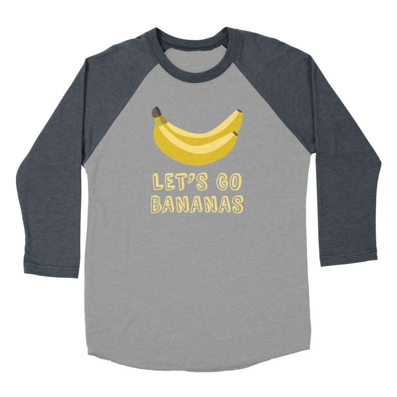 Let's Go Bananas Men's Baseball Triblend T-Shirt by Robyriker Designs - Elishka Jepson