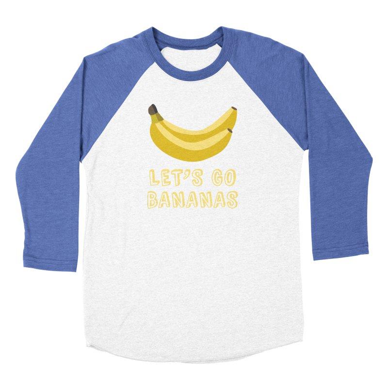 Let's Go Bananas Men's Baseball Triblend T-Shirt by Robyriker Designs - Elishka Jepson