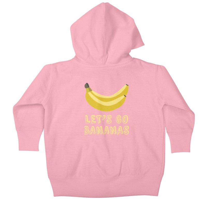 Let's Go Bananas Kids Baby Zip-Up Hoody by Robyriker Designs - Elishka Jepson