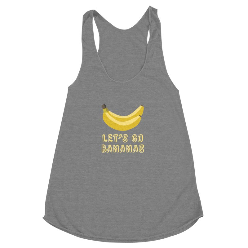 Let's Go Bananas Women's Racerback Triblend Tank by Robyriker Designs - Elishka Jepson