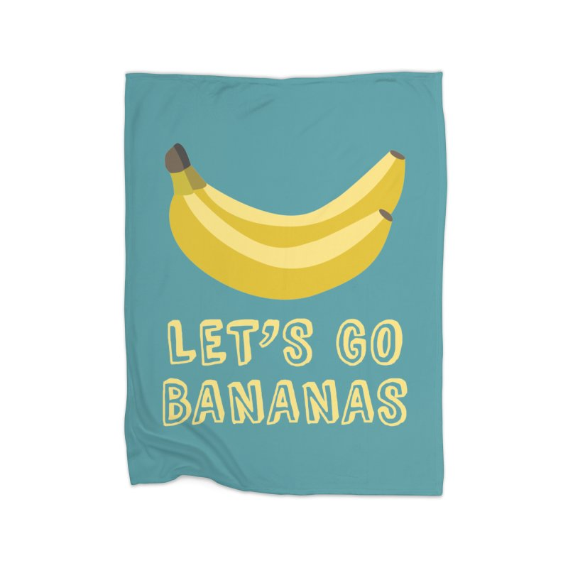 Let's Go Bananas Home Blanket by Robyriker Designs - Elishka Jepson