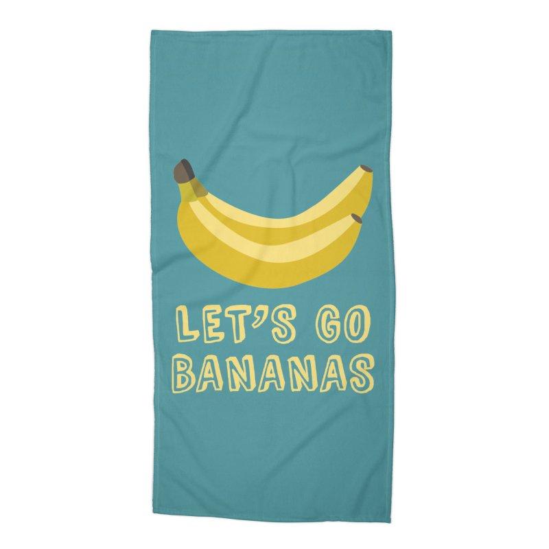 Let's Go Bananas Accessories Beach Towel by Robyriker Designs - Elishka Jepson