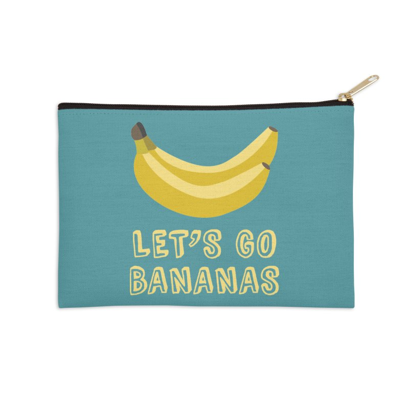 Let's Go Bananas Accessories Zip Pouch by Robyriker Designs - Elishka Jepson