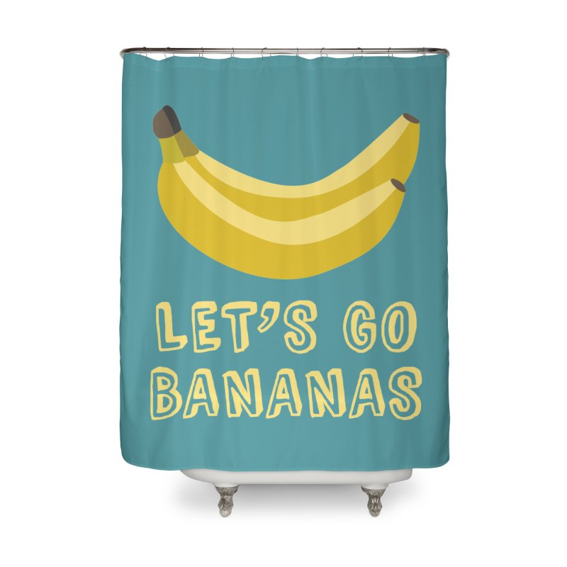 Let's Go Bananas Home Shower Curtain by Robyriker Designs - Elishka Jepson