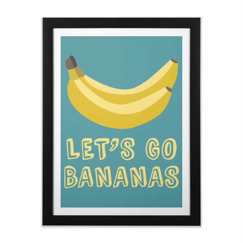 Let's Go Bananas Home Framed Fine Art Print by Robyriker Designs - Elishka Jepson