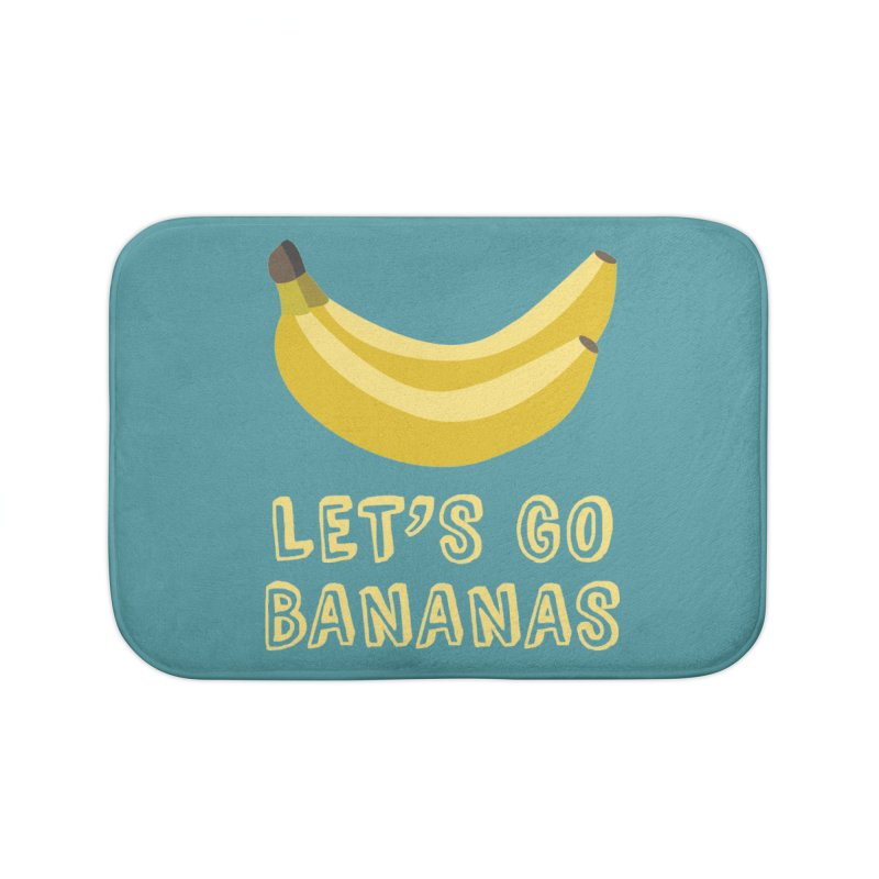 Let's Go Bananas Home Bath Mat by Robyriker Designs - Elishka Jepson