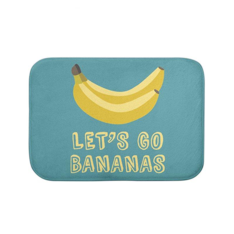 Let's Go Bananas Home Bath Mat by Robyriker Designs - Elishka Jepson