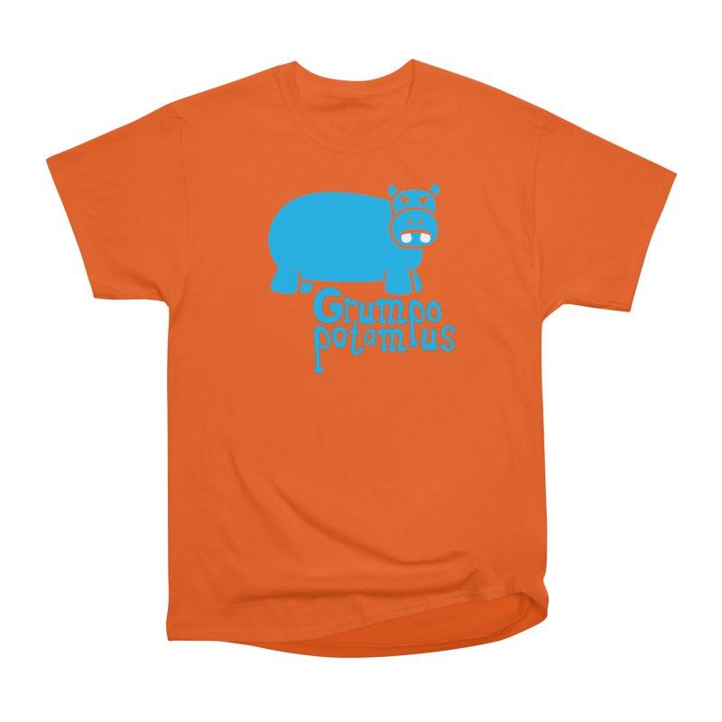 Grumpopotamus Men's Heavyweight T-Shirt by Robyriker Designs - Elishka Jepson
